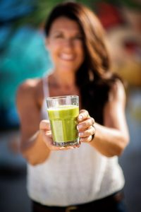 Brenda with green smoothie