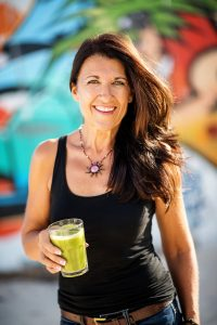 Brenda with green smoothie 2