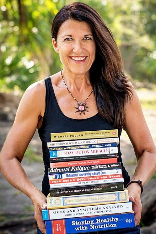 Brenda with school books (2)