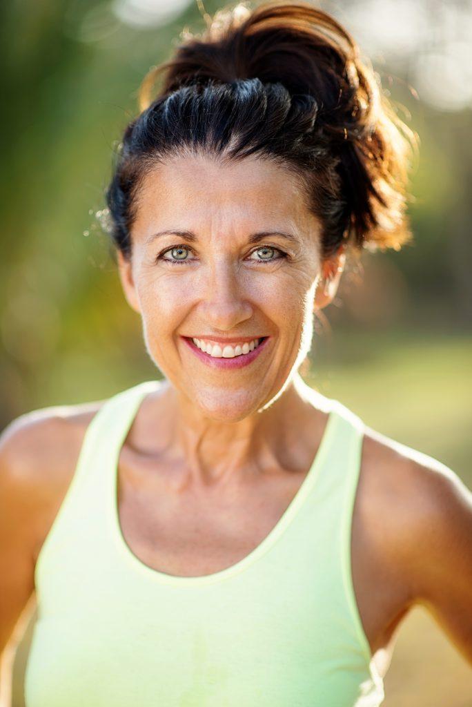 Brenda in workout gear