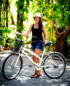 Brenda with bike (2)