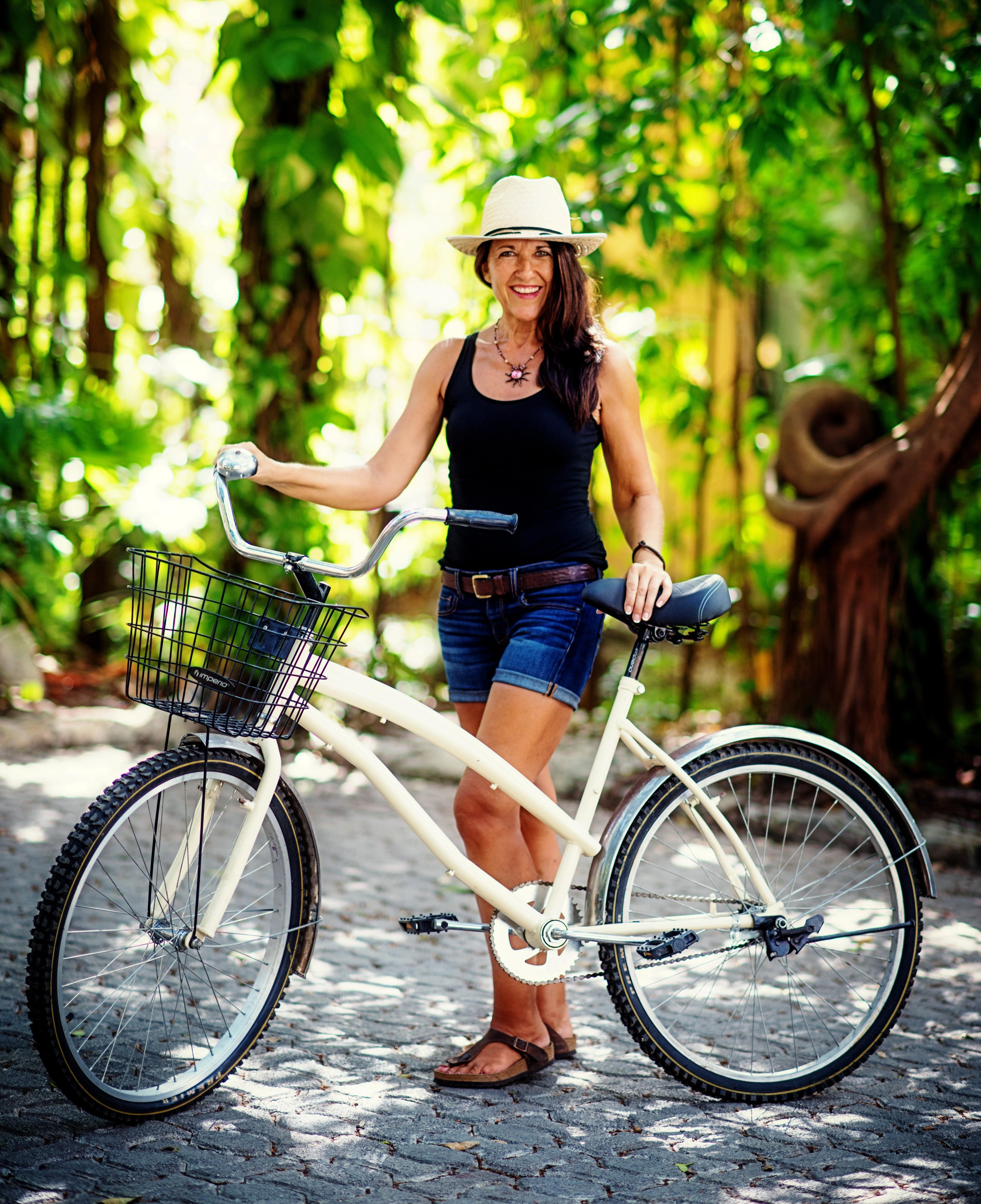 Brenda with bike (2)